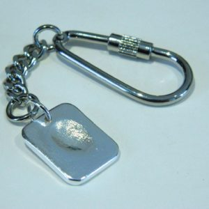 silver fingerprint dog tag