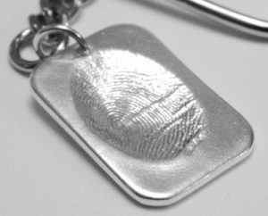 small dog tag putty fingerprint