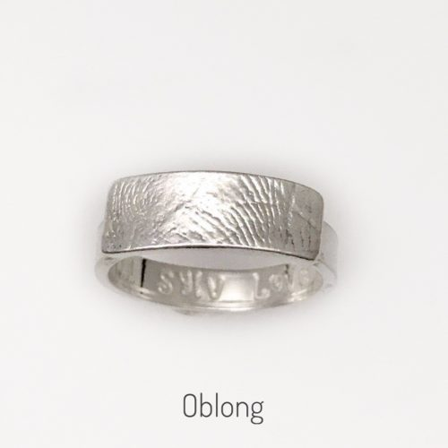 oblong fingerprint ring