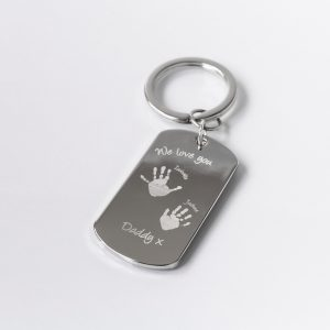 Silver plated standard key ring