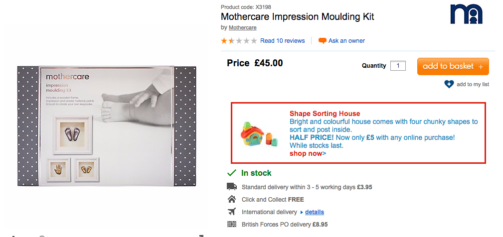 mothercare DIY life casting kit