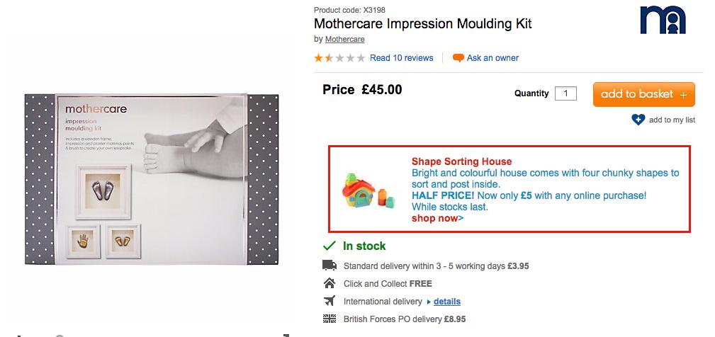 mothercare DIY life casting kit