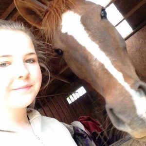daughter & horse