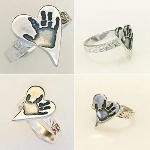 Silver Ring (hand/foot/paw/finger ink prints) 1