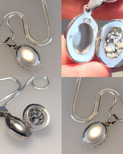cremation ash in locket