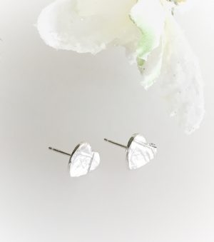 Silver fingerprint earring