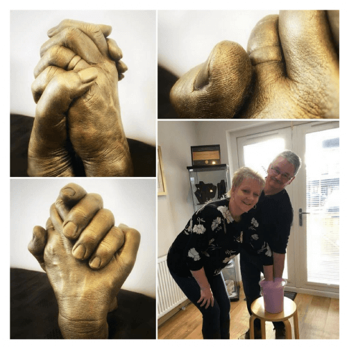 hand casting couple