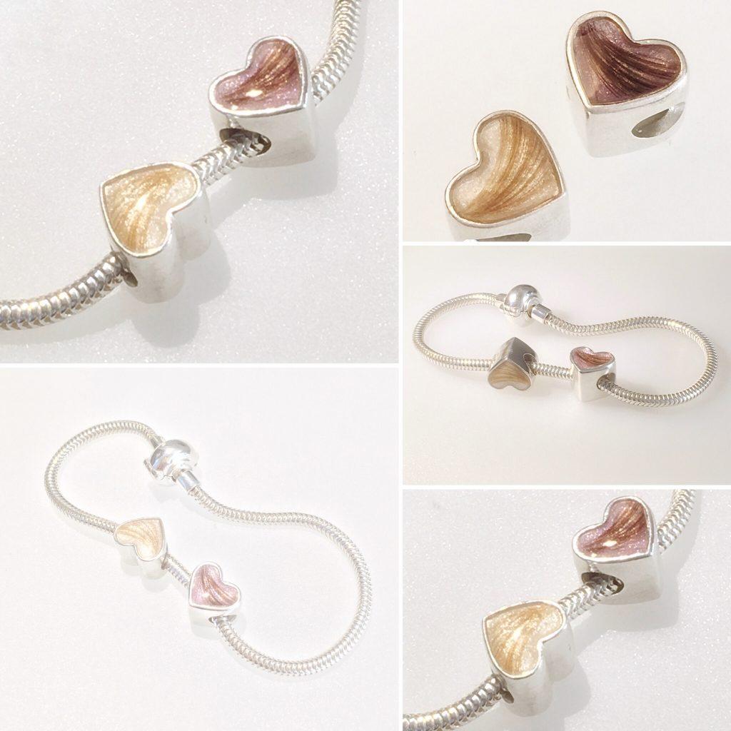 pandora bead made with lock of hair encapsulated