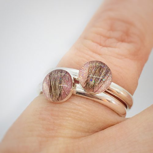 Pink ring with hair