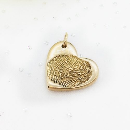 golden ink print fingerprint charm