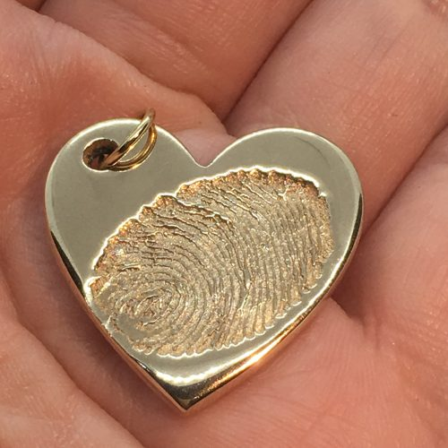 medium golden ink print fingerprint charm
