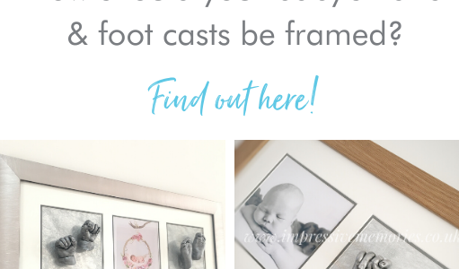 How should your baby's hand & foot casts be framed?