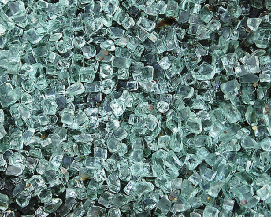 Tempered safety glass breaks into small nuggets