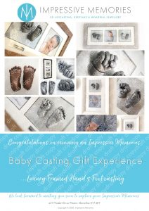 Baby Hand & Foot Cast: Downloadable Gift Experience 24