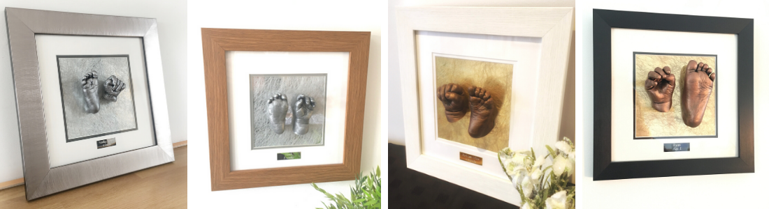 Luxury Sinlge Aperture Frame option for baby hand and foot life castings