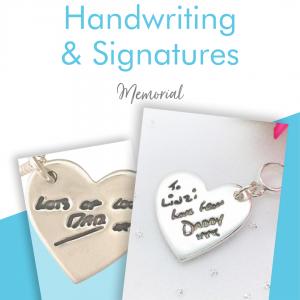 handwriting jewellery
