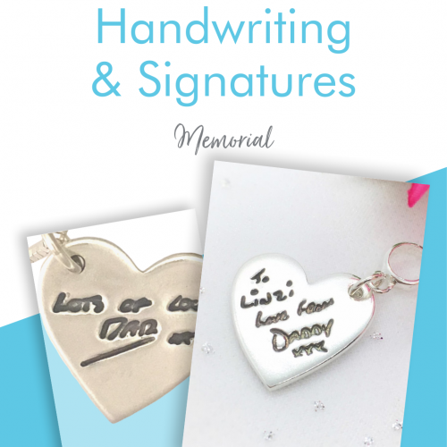 Memorial Handwriting & Signature Jewellery