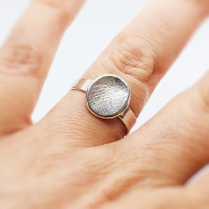 circular fingerprint ring