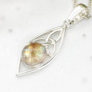 celtic marquise pendant necklace