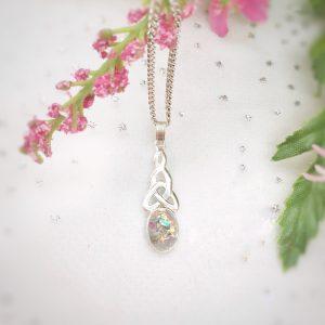 celtic drop pendant necklace