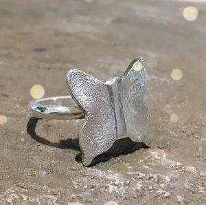butterfly fingerprint ring