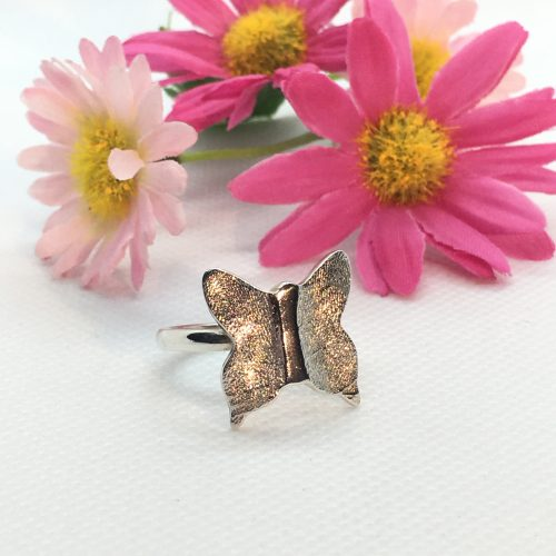 butterfly fingerprint ring