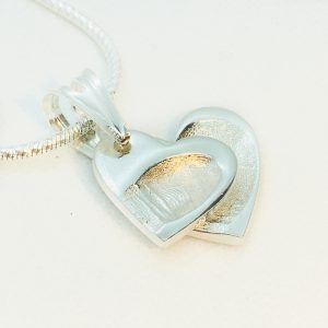 DOUBLE SILVER FINGERPRINT CHARM