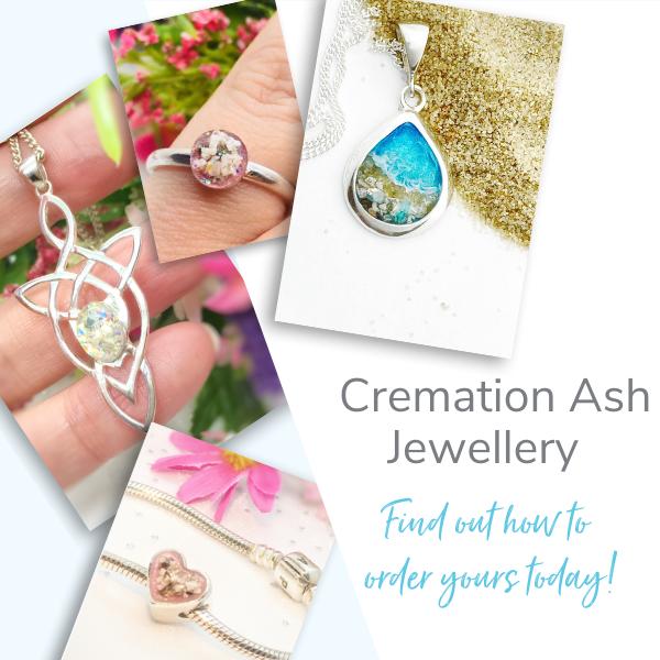 cremation ash jewellery