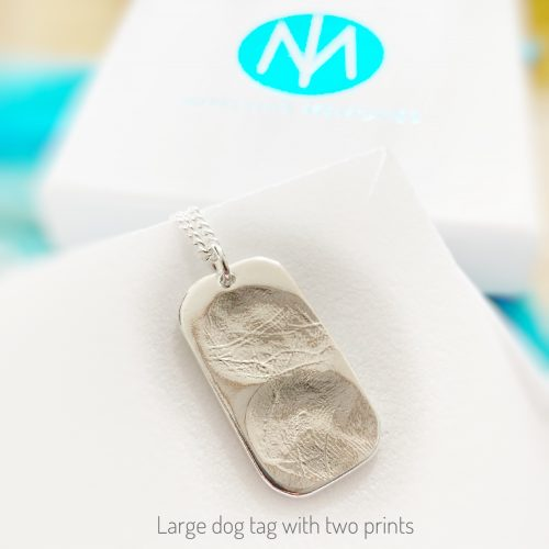 dog tag large with 2 prints