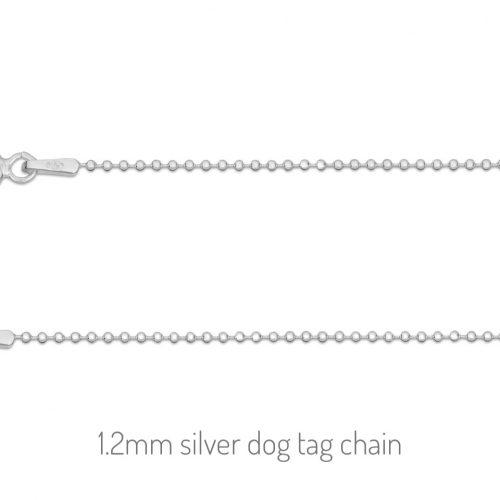 dog tag ball chain